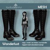 lassitude & ennui Wanderlust boots - black