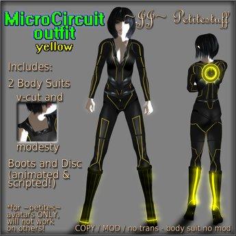 ~JJ~ Petitestuff MicroCircuit Outfit - yellow