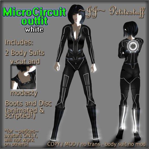 ~JJ~ Petitestuff MicroCircuit Outfit - white