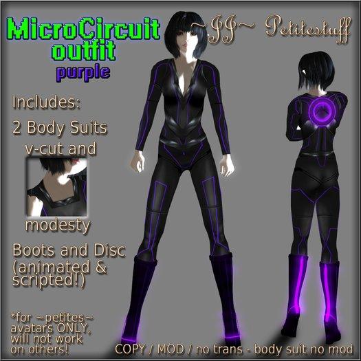 ~JJ~ Petitestuff MicroCircuit Outfit - purple