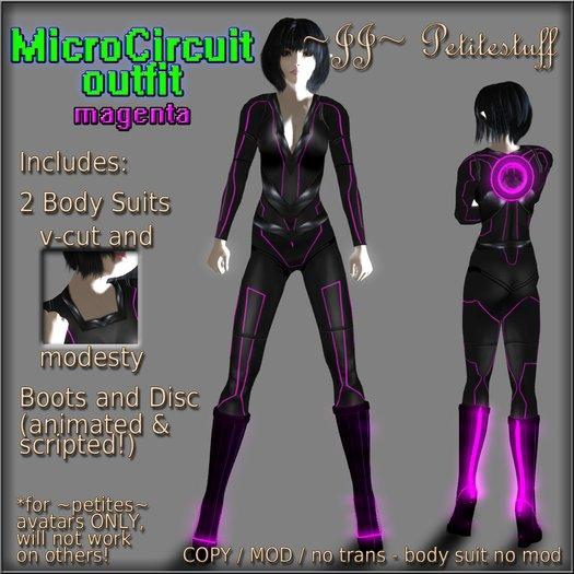 ~JJ~ Petitestuff MicroCircuit Outfit - magenta