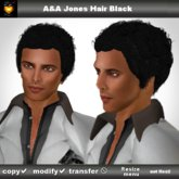 A&A Jones Hair Black (Color 1), short ethnic curly men's hairstyle