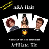 A&A Hair Affiliate Quickstart Kit - 25% commission on every sale, only bestsellers, automatically updating vendors