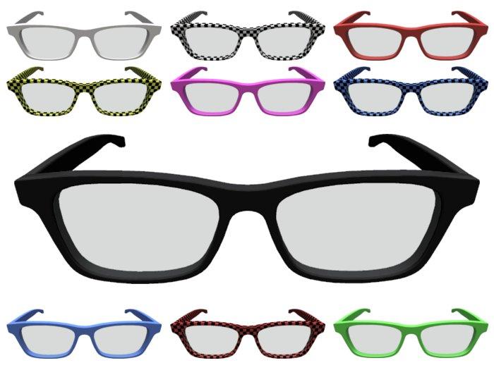 Mesh Nerd Glasses in several colors (plain & checkered)