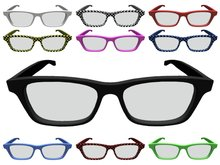 Mesh Nerd Glasses in several colors (plain & checkered)