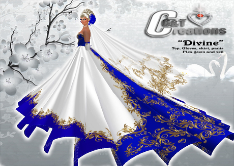 Second Life Marketplace G T Creations Wedding Gown Divine Royal