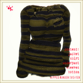*dg*ripped border sweater olive