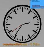 Analog Uhr 1 - Ø 1m