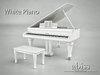 Abiss Piano White boxed - mesh made grand piano