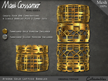 Bangles - Athena Gold and Silver Lattice Bangles