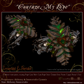 """""""Courage, My Love"""" Finger Talisman - Emerald & Peridot (TRANSFERABLE) (WAS $425 -> NOW ONLY $110!)"""