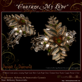 """""""Courage, My Love"""" Finger Talisman - Peridot & Diamond (TRANSFERABLE) (WAS $425 -> NOW ONLY $110!)"""