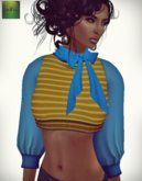 ::FEED:: iRawk Mesh Short Top (Mustard and Blue)