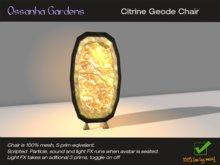 Citrine Geode Chair *New*