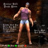Summer Outfit Purple Denim
