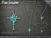 Necklace - Lost Eden Silver Cross With Turquoise Stones