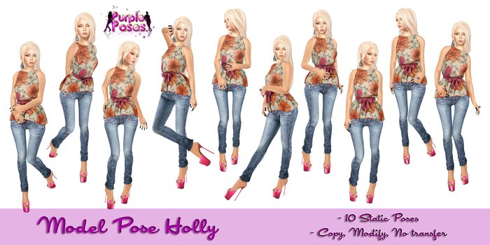 PURPLE POSE HOLLY - Model Poses
