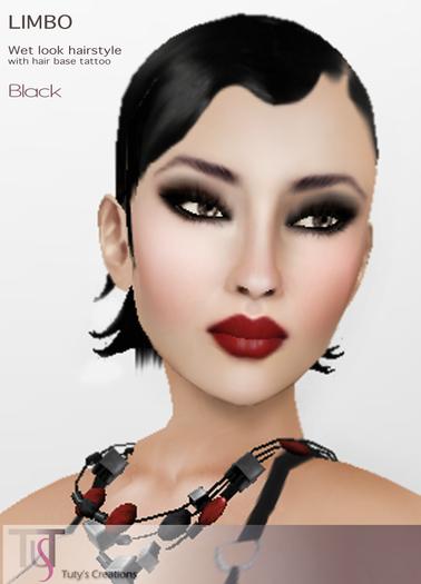 TuTy's - LIMBO Short Wet Hairstyle - BLACK