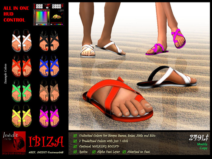 iNEDIT-Footwear048 *Ibiza* Basics - Sandals in Unlimited colors