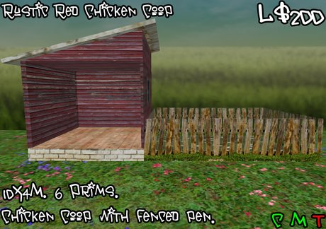 Rustic Red Chicken Coop (BOXED)