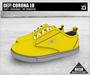 DEF! Unisex Sneakers / Corona / Lo / Yellow & Grey (100% Mesh)