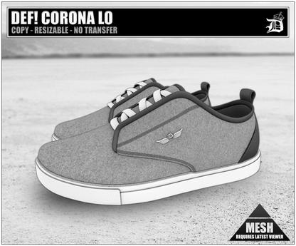 DEF! Unisex Sneakers / Corona / Lo / Grey (100% Mesh)