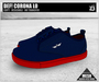 DEF! Unisex Sneakers / Corona / Lo / Blue & Red (100% Mesh)
