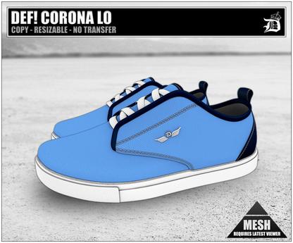 DEF! Unisex Sneakers / Corona / Lo / Blue (100% Mesh)