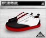 DEF! Unisex Sneakers / Corona / Lo / Black White & Red (100% Mesh)