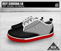 DEF! Unisex Sneakers / Corona / Lo / Black Grey & Red (100% Mesh)