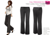 FULL PERM CLASSIC Ladies Formal Beige and Black Business Trousers Pants