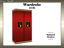 Wardrobe/Cupboard (Red Lacquer)