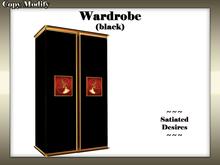 Wardrobe/Cupboard (Black Lacquer)
