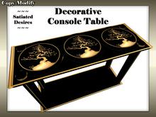 Decorative Black Lacquer Console/Sofa Table