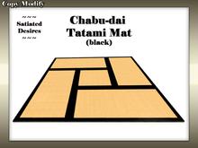 Chabu-dai Tatami Mat - Coarse weave with black trim
