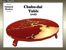 Chabu-dai Dining Table (Red)