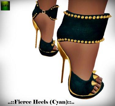 ::FEED:: Fierce Heels (Cyan)