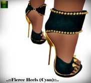::FEED:: Fierce Heels (Cyan)