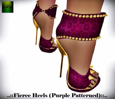 ::FEED:: Fierce Heels (Plum Patterned)