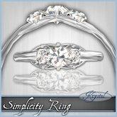 ::: Krystal ::: Simplicity Ring - Silver