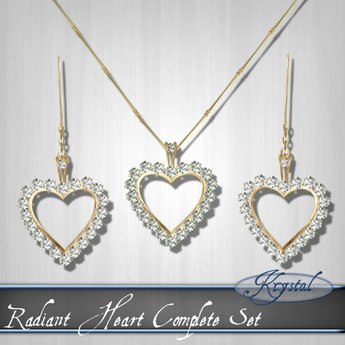 Radiant Heart - Jewelry Set - Gold