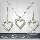 Radiant Heart - Jewelry Set - Gold