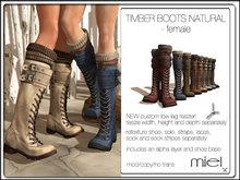 MIEL TIMBER BOOTS NATURAL - female