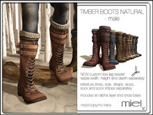 MIEL TIMBER BOOTS NATURAL - male