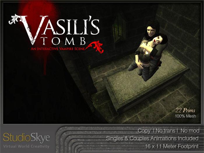 Vasili's Tomb from Studio Skye 100% MESH Vampire Scene