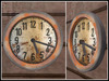 RE Old Grungy Wall Clock - Worn & Rusty Decoration