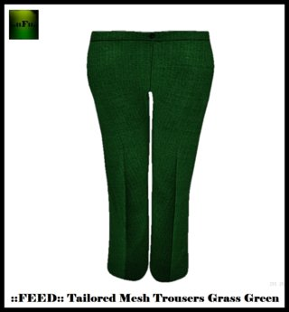 ::FEED:: Tailored Mesh Trousers (Grass Green Linen)