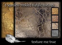 6 seamless crinkled metallic textures