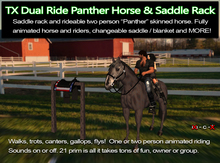 TX Dual Ride Panther Horse and Saddle, Low introductory Price!