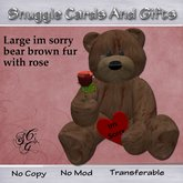 Brown fur Large im sorry bear with rose